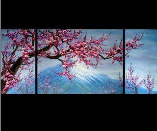 Abstract Art Chinese Flower Plum Blossom Feng Shui Oil