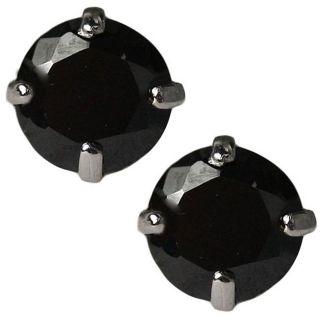 14k White Gold Black Cubic Zirconia Stud Earrings Today $39.49 3.8 (4