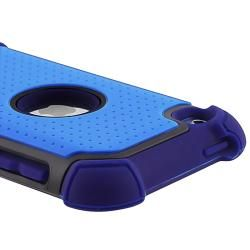 Blue/ Black Hybrid Armor Case for Apple iPod touch 4th Generation