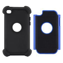 Black/ Blue Hybrid Armor Case for Apple iPod touch 4th Generation