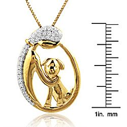 ASPCA ender Voices Gold Plaed on Silver 1/10c DW Diamond Necklace