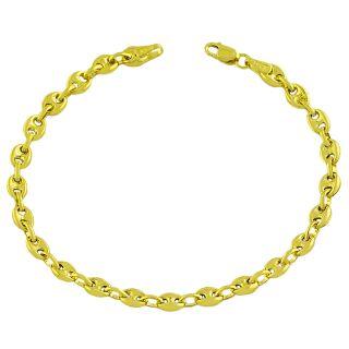 Fremada 14k Yellow Gold 4 mm Puff Mariner Bracelet
