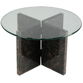 Tan Brown Granite End Table