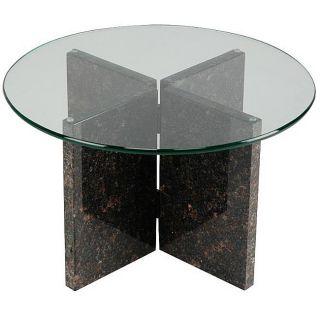 Tan Brown Granite End Table