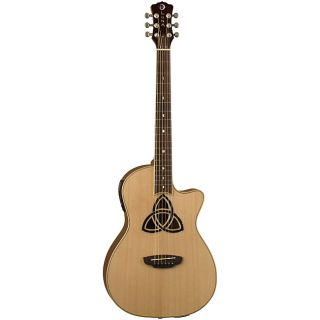 Luna Trinity Natural Parlor Cutaway Acoustic /Electric Guitar