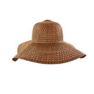 Faddism Womens Brown Straw Sun Hat