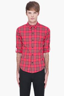 Marc By Marc Jacobs Deep Pink Nico Plaid Shirt for men
