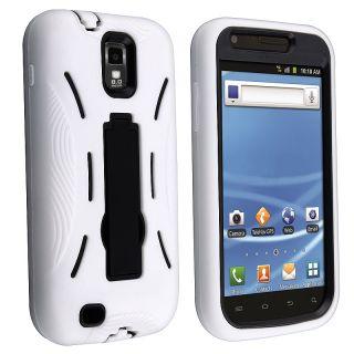 Black/ White Hybrid Case for Samsung Galaxy S II T Mobile T989