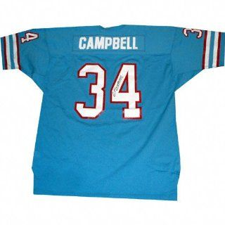 Earl Campbell Houston Oilers Autographed Blue Jersey