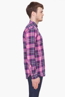 Marc By Marc Jacobs Purple Horton Plaid Shirt for men
