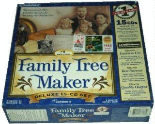 Family Tree Maker Deluxe 15 CD Set (Version 6) Software
