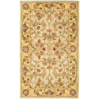 Handmade Classic Grey/ Light Gold Wool Rug (3 x 5)