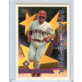 1996 TOPPS IVAN RODGIGUEZ #25, STAR POWER TEXAS RANGERS