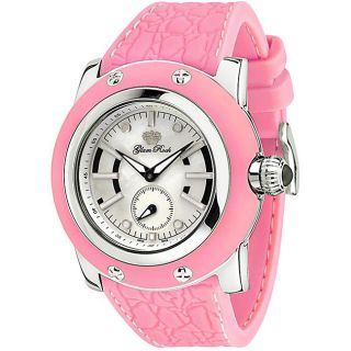 Glam Rock Womens Miami Pink Silicon Watch