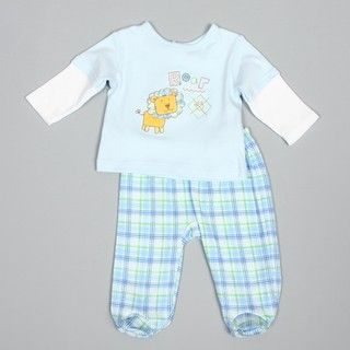 Absorba Newborn Boys Lion Shirt and Pant Set