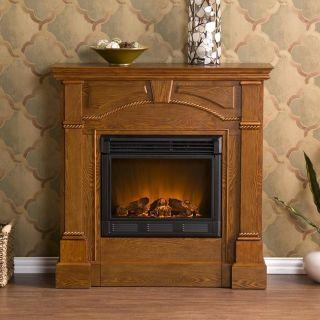 Wynn Mission Oak Electric Fireplace
