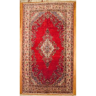 Persian Hand knotted Red Hamadan Wool Rug (12 x 153)