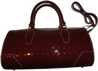 Womens Arcadia Patent Leather Purse Handbag Polo Red Shoes