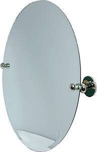 AP 91 Style 21 x 29 Oval Tilt Mirror   Antique Pewter By