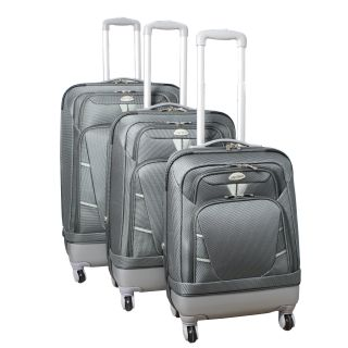 World Traveler Hybrid 3 piece Expandable Lightweight Spinner Luggage