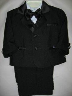 Baby Boys   Kids BLACK 5 Piece Deluxe Tuxedo   Suit