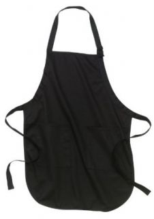 Port Authority®   Full Length Apron with Pockets., Black