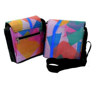 Recycled Plastic Patchwork Queenie Messenger Bag (India)