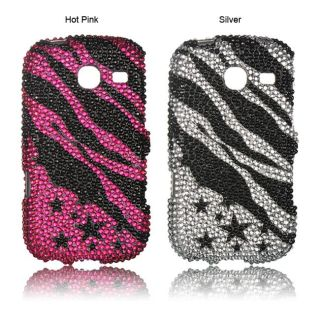 Luxmo Samsung Freeform III/ R380 Zebra and Star Rhinestone Case
