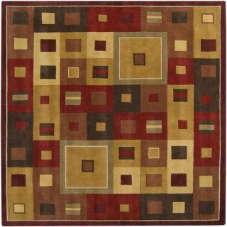 Hand tufted Mayflower Burgundy Wool Rug (8 Square)