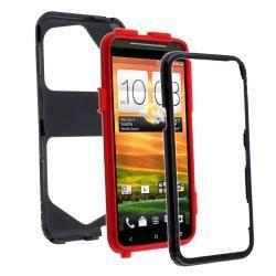 Red Skin/ Black Hard Hybrid Case for HTC EVO 4G LTE