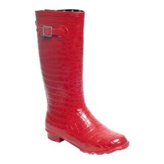 Womens RainBOPS Croc Style Rain Boot Red Pepper