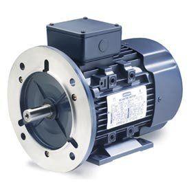 Leeson Iec Metric Motor 3hp, 230/460v, 1750/1430rpm, Ip55, B3/B5, 1.15