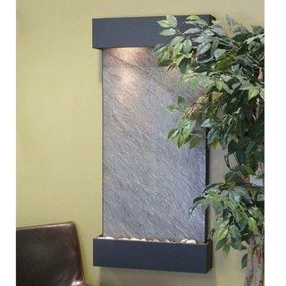 Adagio Whispering Creek Black Finish Wall mounted Water Feature