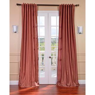 Spice Vintage Textured Dupioni Faux Silk 84 inch Curtain Panel
