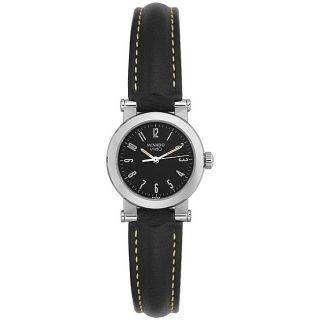 Vizio by Movado Womens Black Leather Watch