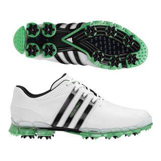 Adidas Mens Tour 360 ATV White/ Black/ Slime Golf Shoes