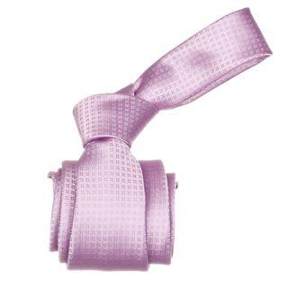 Republic Mens Pink Striped Microfiber Neck Tie
