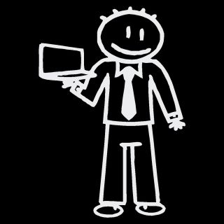 Vinyl Letter Decor Laptop Dad Stick Figure Car Decal
