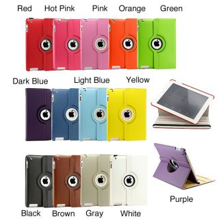 360° Rotating iPad Dual Layer PU Leather Smart Cover