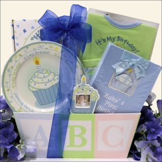 Great Arrivals Babys 1st Birthday Baby Boy Gift Basket Today: $56.99