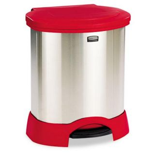 Rubbermaid 23 gallon Step on Oval Stainless Steel Container