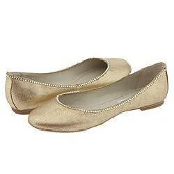 Steve Madden Konny Gold Leather Flats
