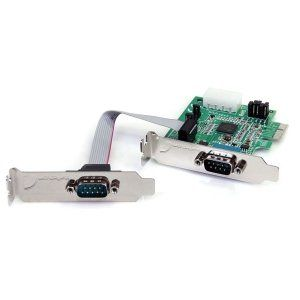 16950 UART SERCRD. 2 x 9 pin DB 9 Male RS 232 Serial Office Products