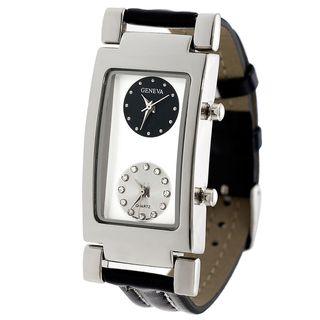 Geneva Mens Two Dial Strap Watch