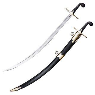 Cold Steel Shamshir Sword with Black Faux Buffalo Horn and