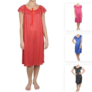 Journee Collection Womens Contemporary Plus Polka dot House Dress