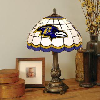 Tiffany style Baltimore Ravens Lamp