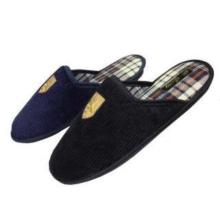 Mens Corduroy House Slippers (Case of 36 Pair)