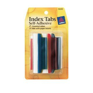 Avery Index Tabs with Writable Inserts, 25 Assorted Tabs