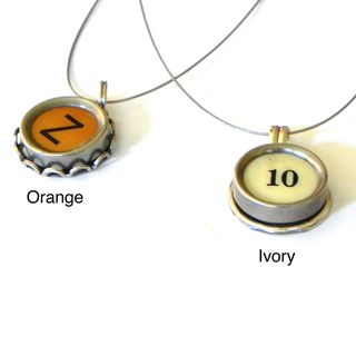 Thats Amore Designs Authentic Vintage Typewriter Key Necklace